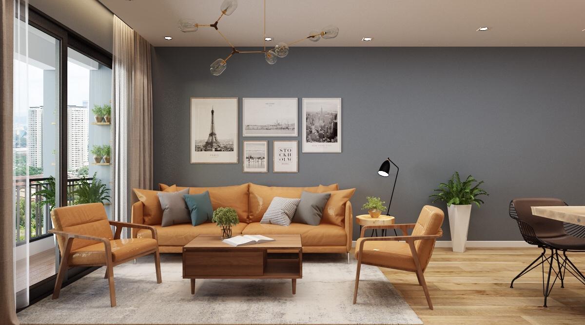 Dự án thiết kế thi công nội thất chung cư 283 Khương Trung