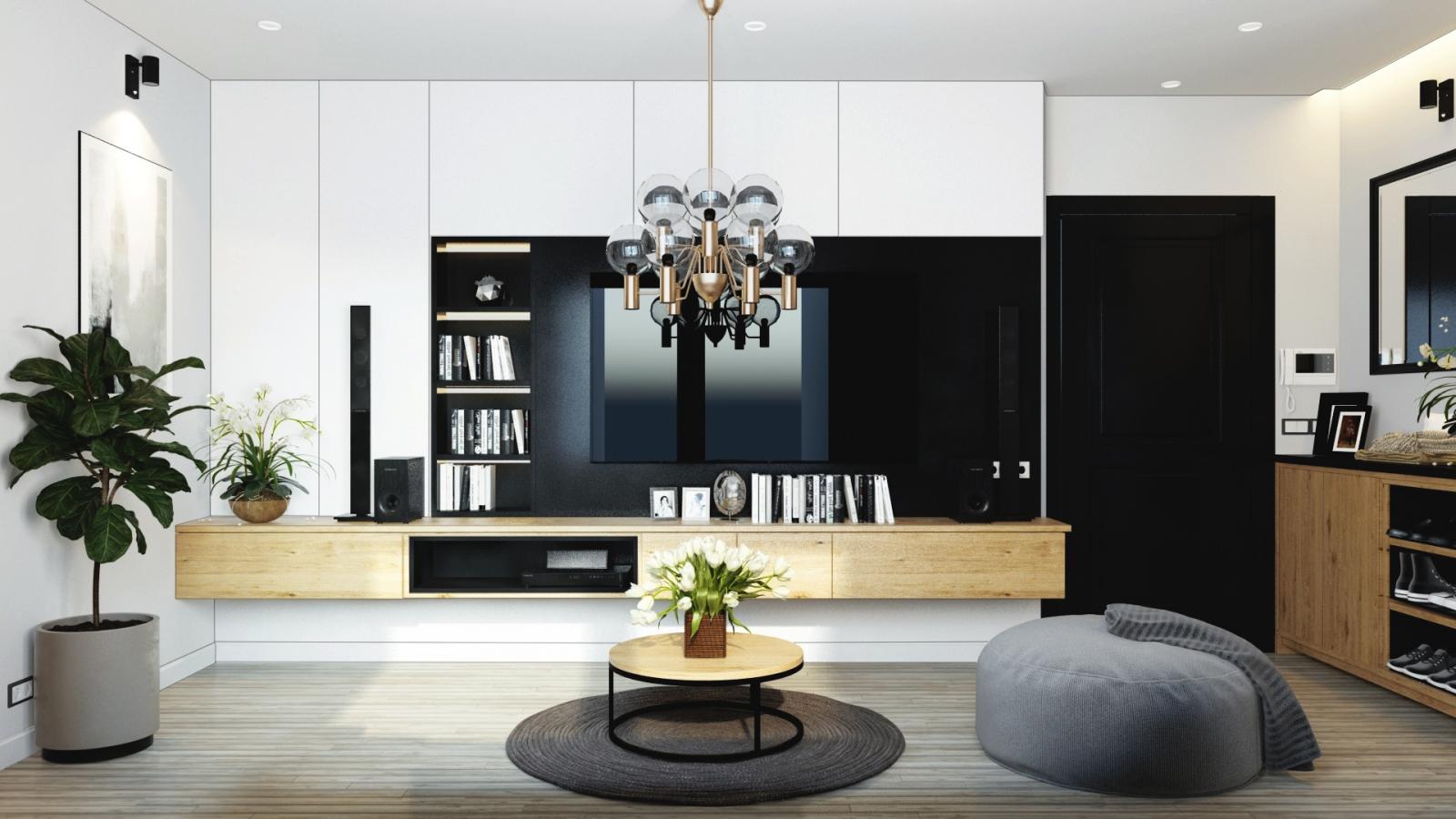 Dự án thiết kế – thi công nội thất chung cư GreenBay nhà chị Xuân