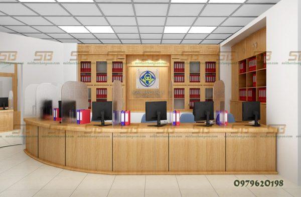 Dự Án Thi Công Nội thất văn phòng giao dịch Ngân hàng Bắc Á